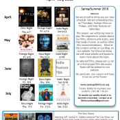 See our complete April – July Schedule